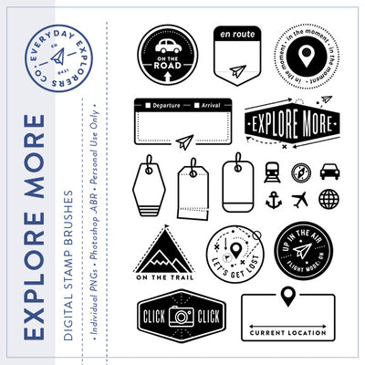 Explore More - Digital Stamp Set