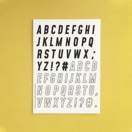 PRE-ORDER: Explorers Alphabet - 6x8 Clear Stamp Set