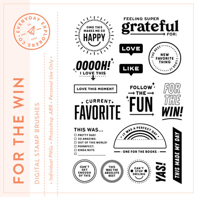 For the Win - Digital Stamp Set