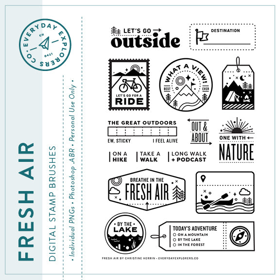 Fresh Air - Digital Stamp Set