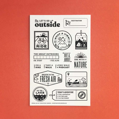 Fresh Air - 4x6 Clear Stamp Set