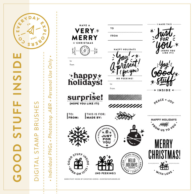 Good Stuff Inside - Digital Stamp Set