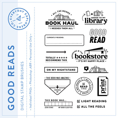 Good Reads - Digital Stamp Set