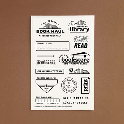 Good Reads - 4x6 Clear Stamp Set