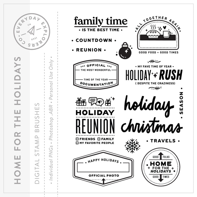 Home for the Holidays - Digital Stamp Set