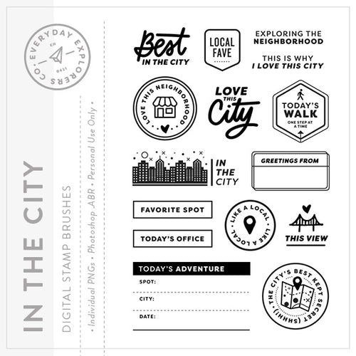In the City - Digital Stamp Set