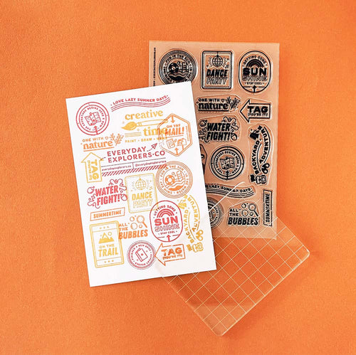 Summer Scenes - 4x6 Clear Stamp Set