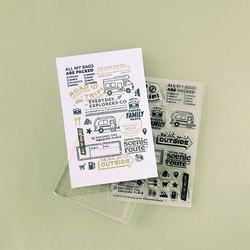 PRE-ORDER: Hit the Road - 4x6 Clear Stamp Set