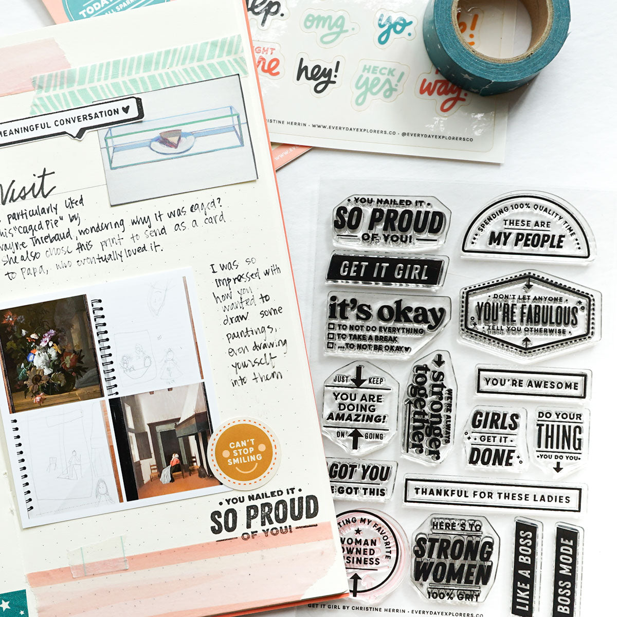 Get It Girl - 4x6 Clear Stamp Set