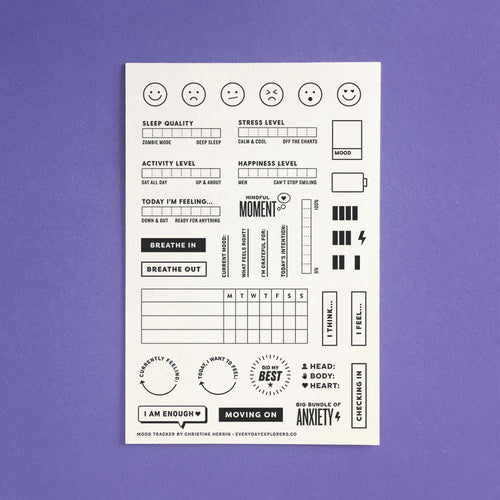 Mood Tracker - 4x6 Clear Stamp Set