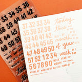 More Calendar Days - 6x8 Clear Stamp Set