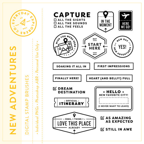 New Adventures - Digital Stamp Set