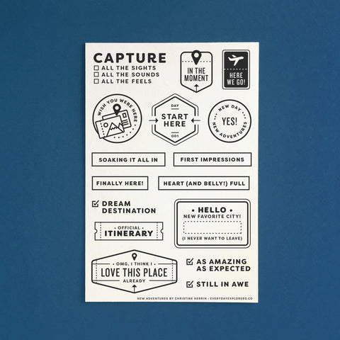 New Adventures - 4x6 Clear Stamp Set