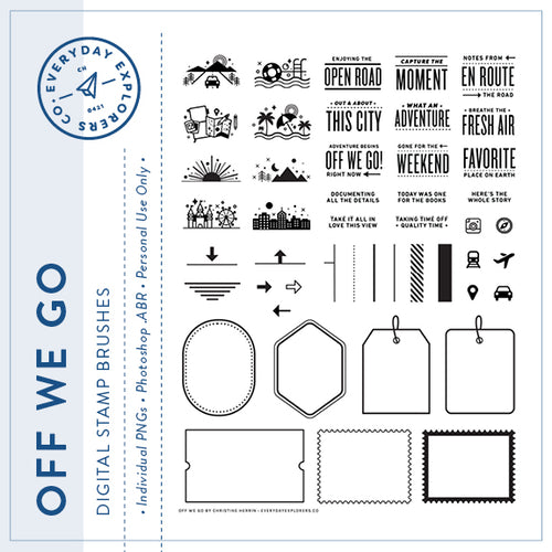 Off We Go - Digital Stamp Set