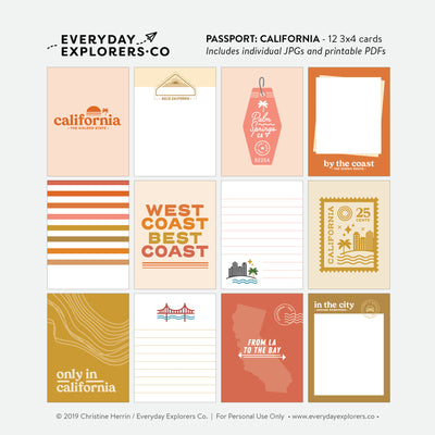 Passport: California - Digital Printables