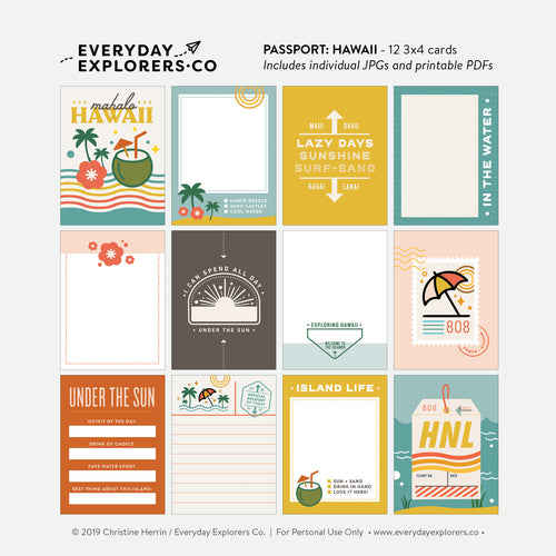 Passport: Hawaii - Digital Printables