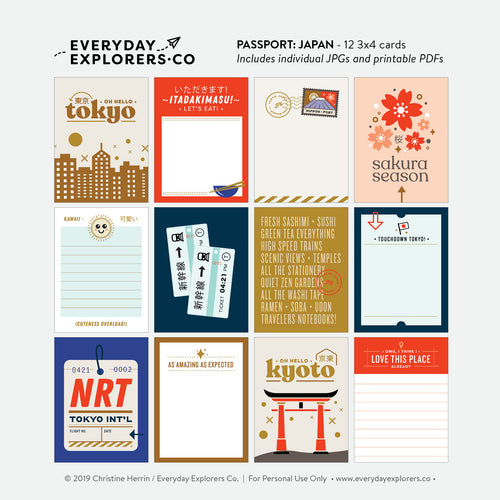 Passport: Japan - Digital Printables