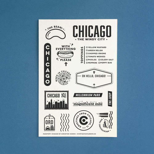 Passport: Chicago - 4x6 Clear Stamp Set