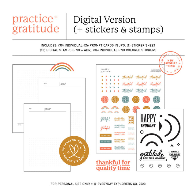 Practice Gratitude - Digital Kit