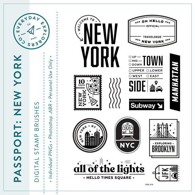 Passport: New York - Digital Stamp Set