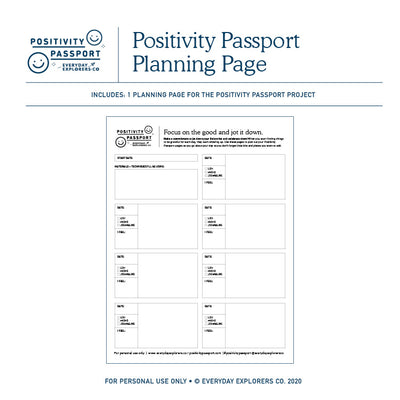 Positivity Passport - Planning Page