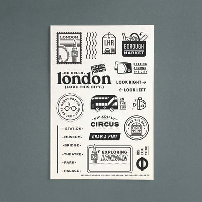 Passport: London - 4x6 Clear Stamp Set