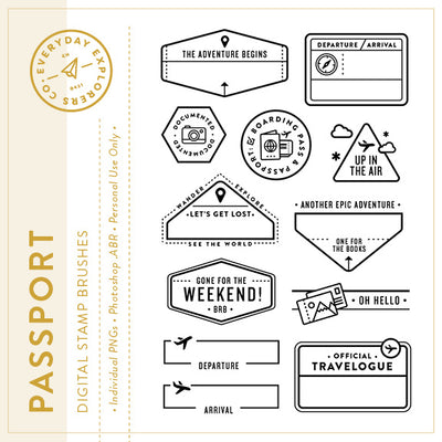 Passport - Digital Stamp Set