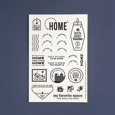 PRE-ORDER: Passport: Home - 4x6 Clear Stamp Set