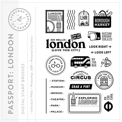 Passport: London - Digital Stamp Set