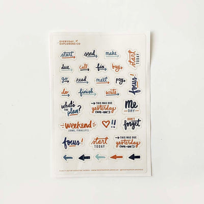 Plan It Out (Clear) - 4x6 Sticker Sheet
