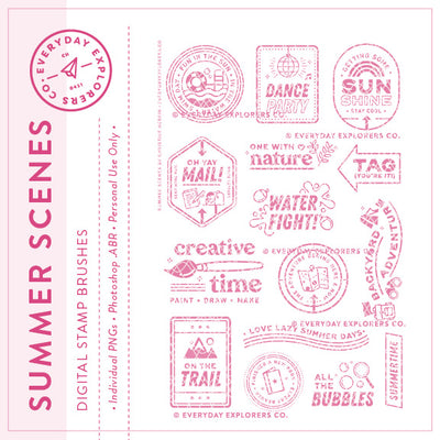Summer Scenes - Digital Stamp Set