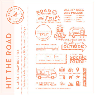 Hit the Road - Digital Stamp Set