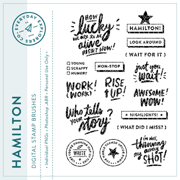 Hamilton - Digital Stamp Set