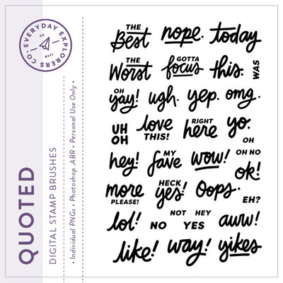 Quoted - Digital Stamp Set