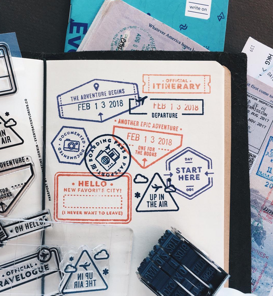 Passport - 4x6 Clear Stamp Set