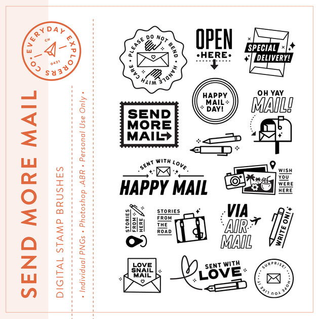 Send More Mail - Digital Stamp Set