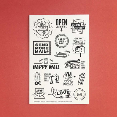 Send More Mail - 4x6 Clear Stamp Set