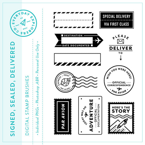 Signed, Sealed, Delivered - Digital Stamp Set