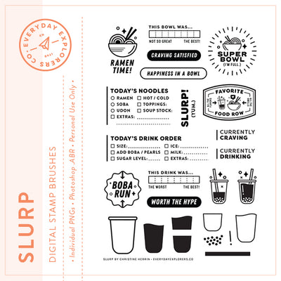 Slurp - Digital Stamp Set