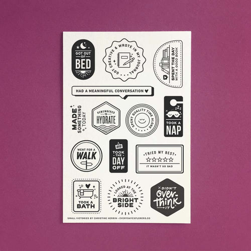 PRE-ORDER: Small Victories - 4x6 Clear Stamp Set