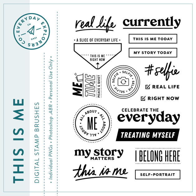 This Is Me - Digital Stamp Set