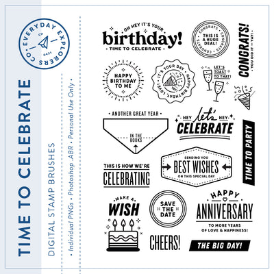 Time to Celebrate - Digital Stamp Set
