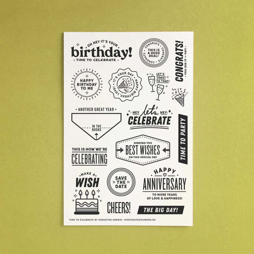 Time to Celebrate - 4x6 Clear Stamp Set