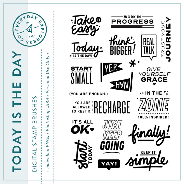 Today Is the Day - Digital Stamp Set