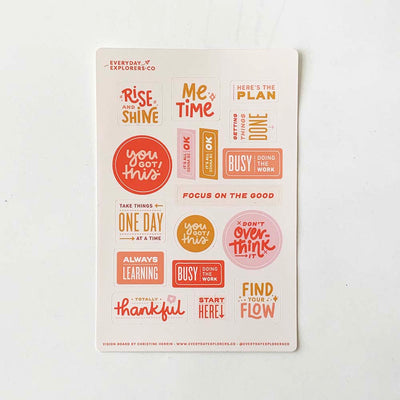 Vision Board - 4x6 Sticker Sheet