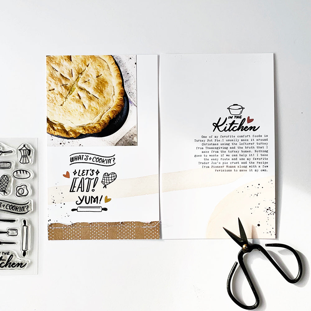 Let's Eat by Abbey Sy - 4x6 Clear Stamp Set