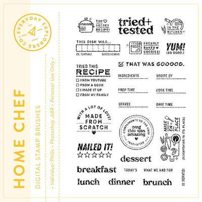 Home Chef - Digital Stamp Set