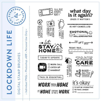 Lockdown Life - Digital Stamp Set