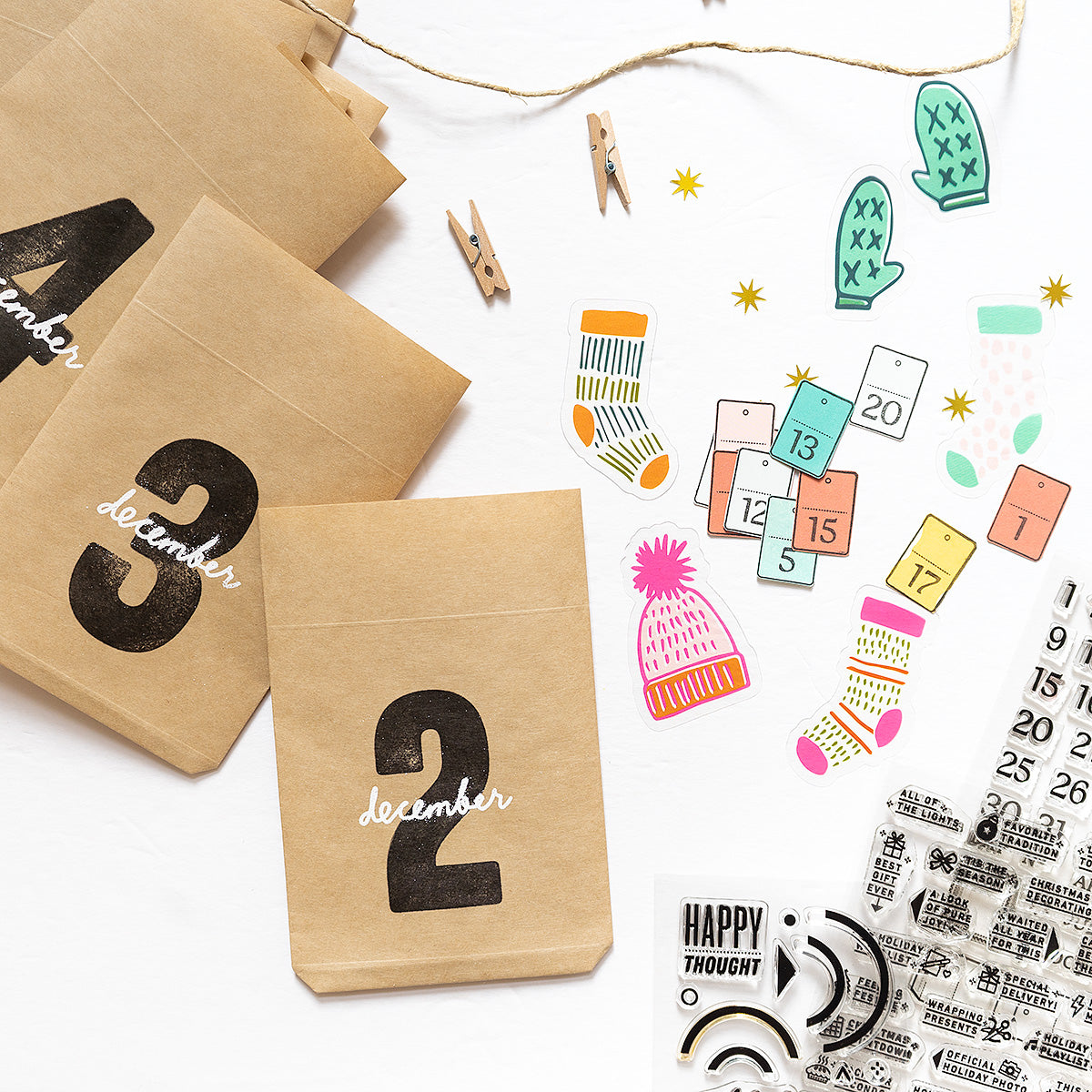Mini Calendar Days - 4x6 Clear Stamp Set