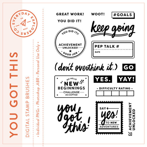 You Got This - Digital Stamp Set